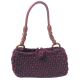 Hand-knitted Combed Cotton Rope Sleeve Bag Purple