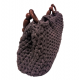 Hand-knitted Combed Cotton Rope Sleeve Bag Mink
