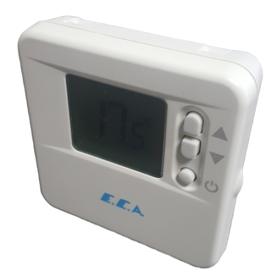 Eca TPI Controlled On-Off Room Thermostat-DT90-With Digital Cable