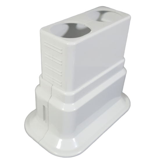 Adjustable Decorative Pipe Hiding Double Movable-Locked- White