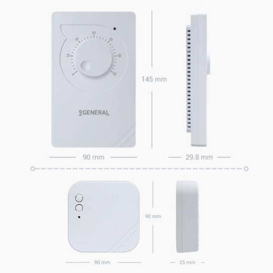 General HT100 RF Wireless Mechanical Room Thermostat