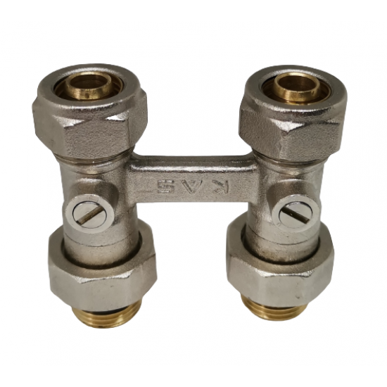 Pex H-Valve Connection Collector Ø16x1 / 2 - With Fitting