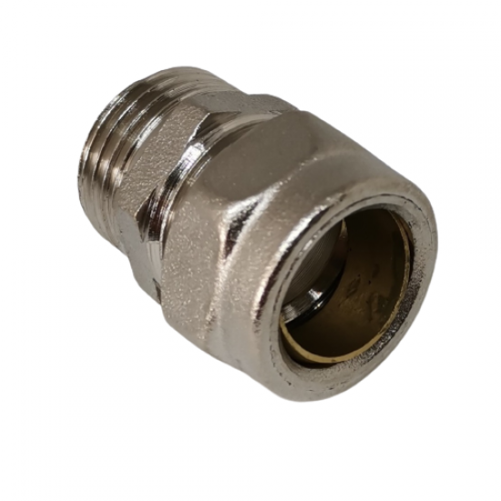 Pex Metal Pipe Connection Union Ø16 x 1/2 External Threaded